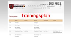 Trainingsplan